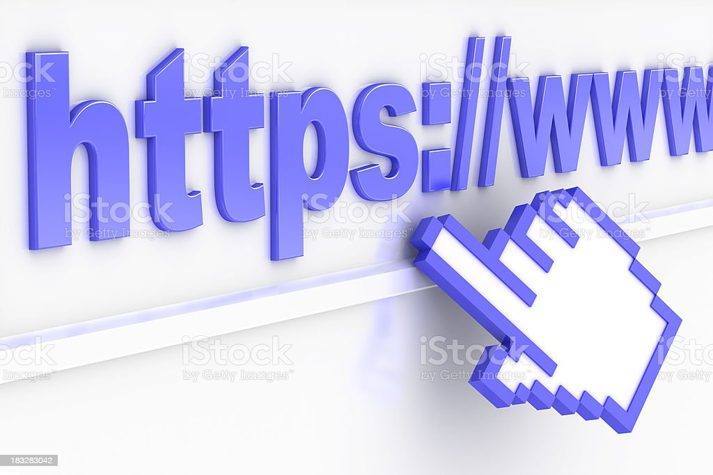 Secure Internet connection stock photo