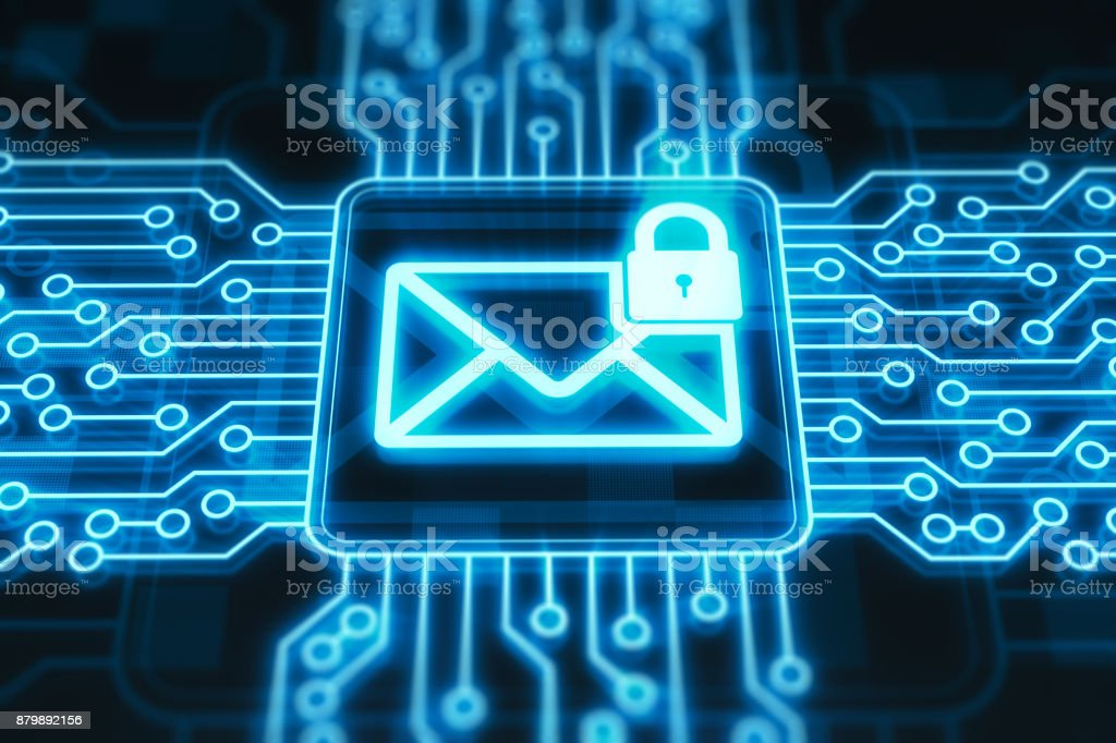 Secure mail concept stock photo