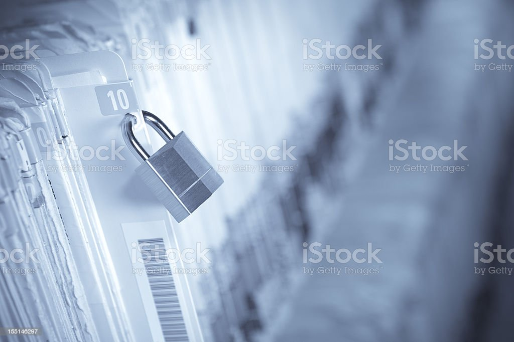 Secure Medical Records stock photo