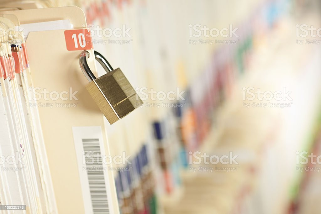 Secure Medical Records royalty-free stock photo