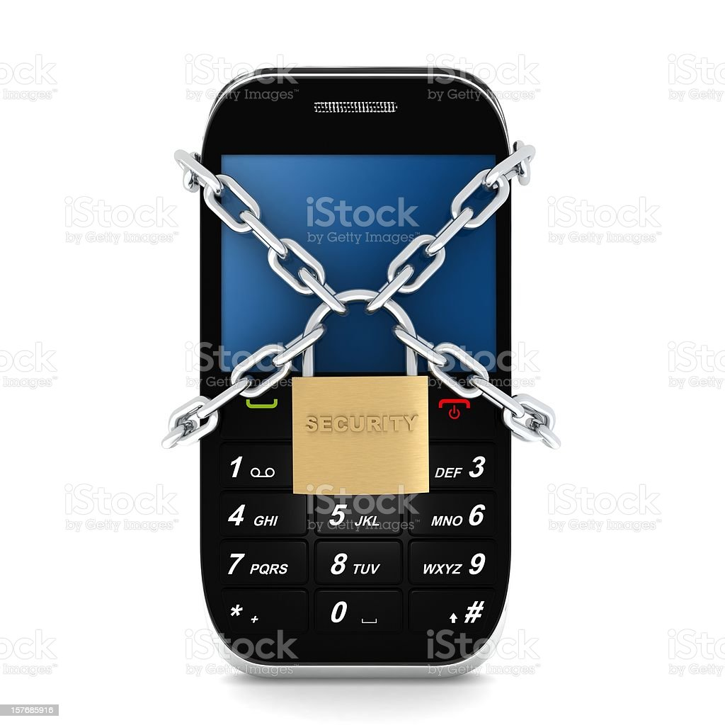 Secure Mobile Phone  Business Stock Photo