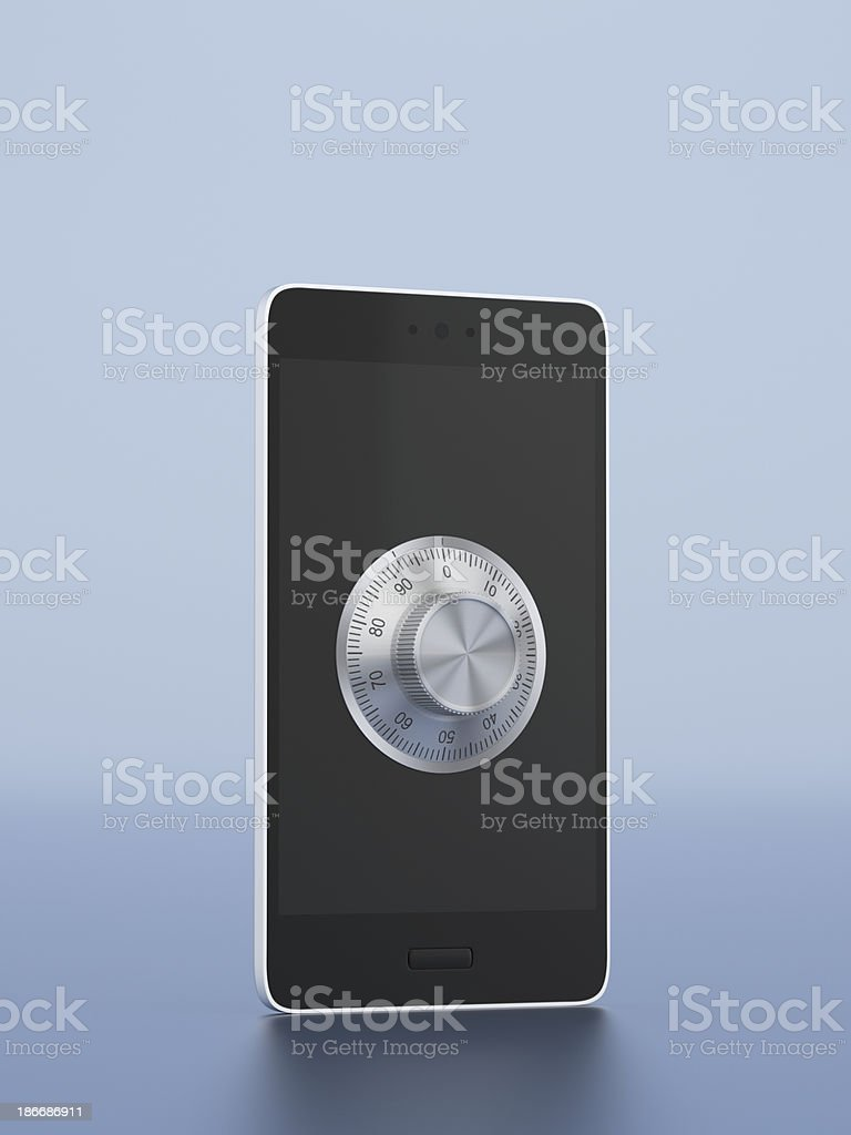 Secure Mobile XL+ royalty-free stock photo