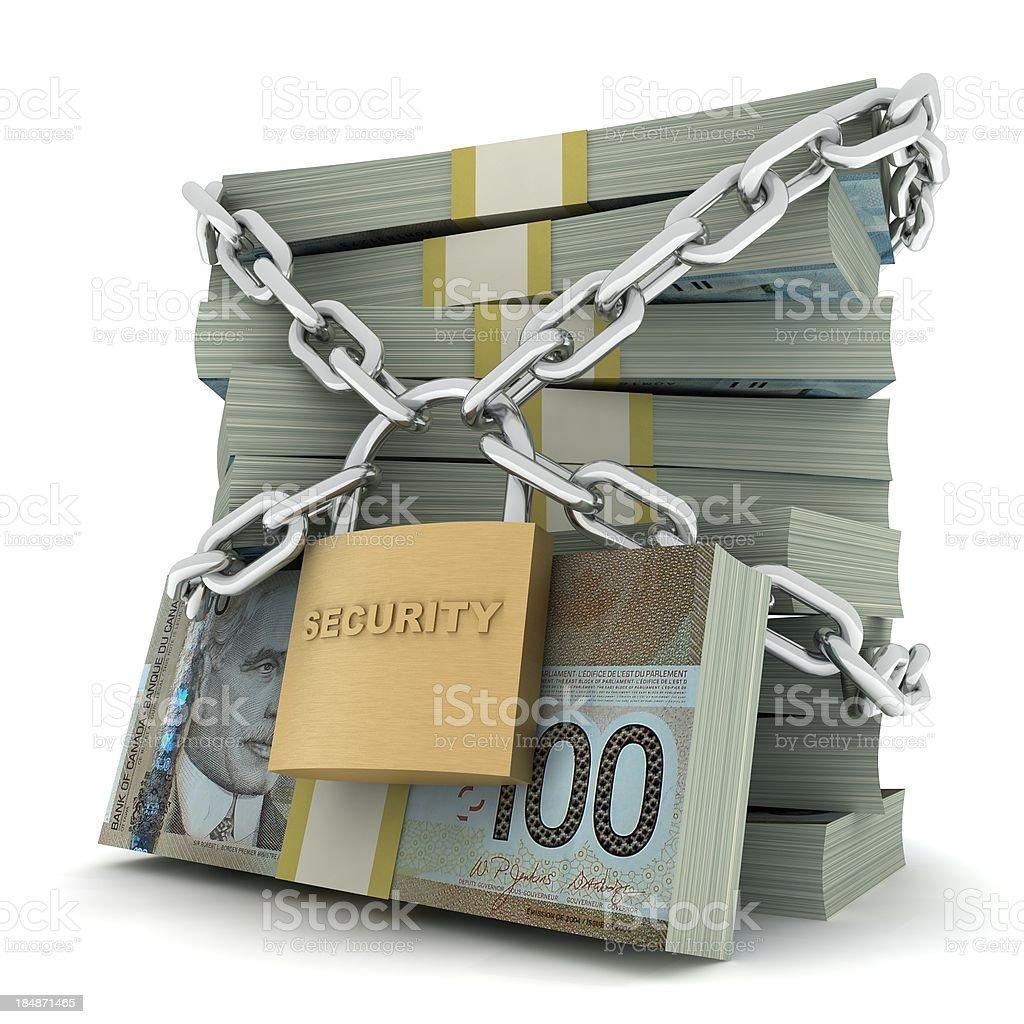 Secure Money - Canadian Dollar stock photo