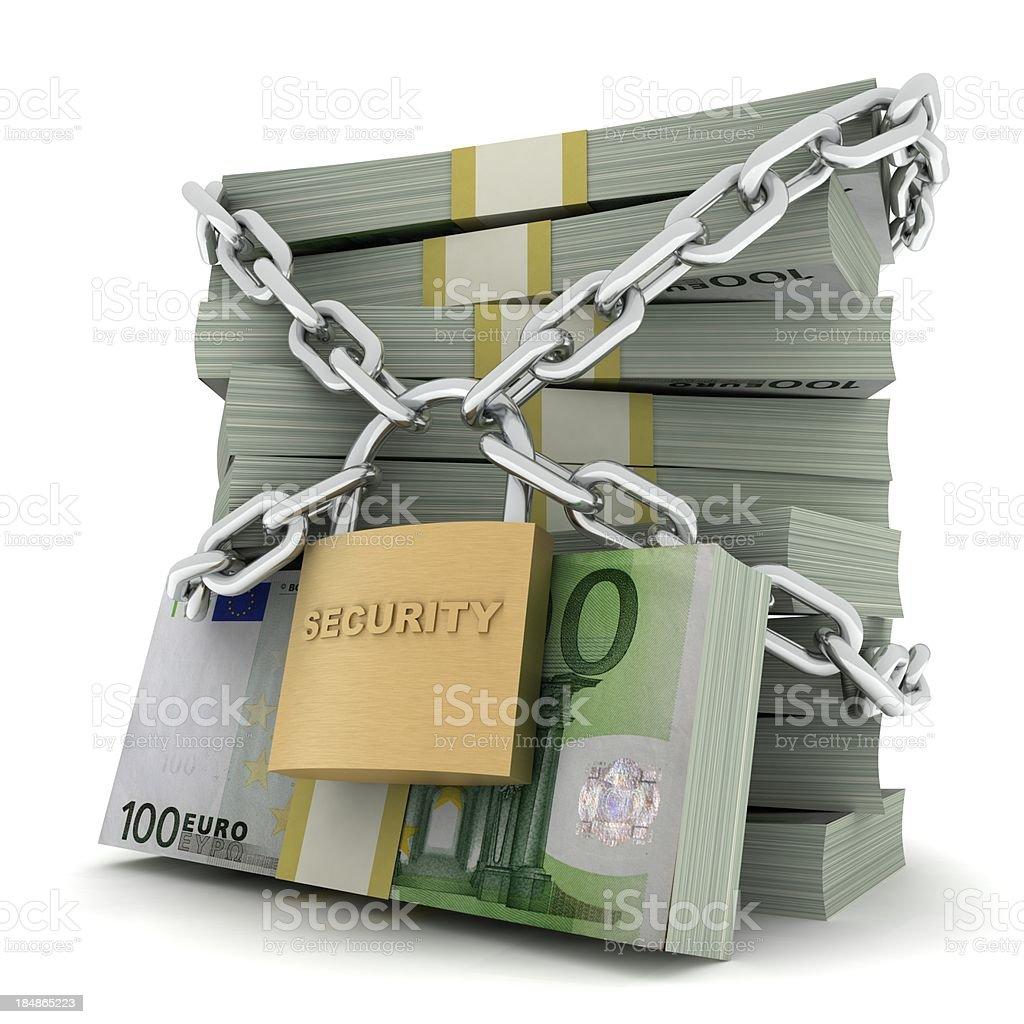 Secure Money - Euro royalty-free stock photo