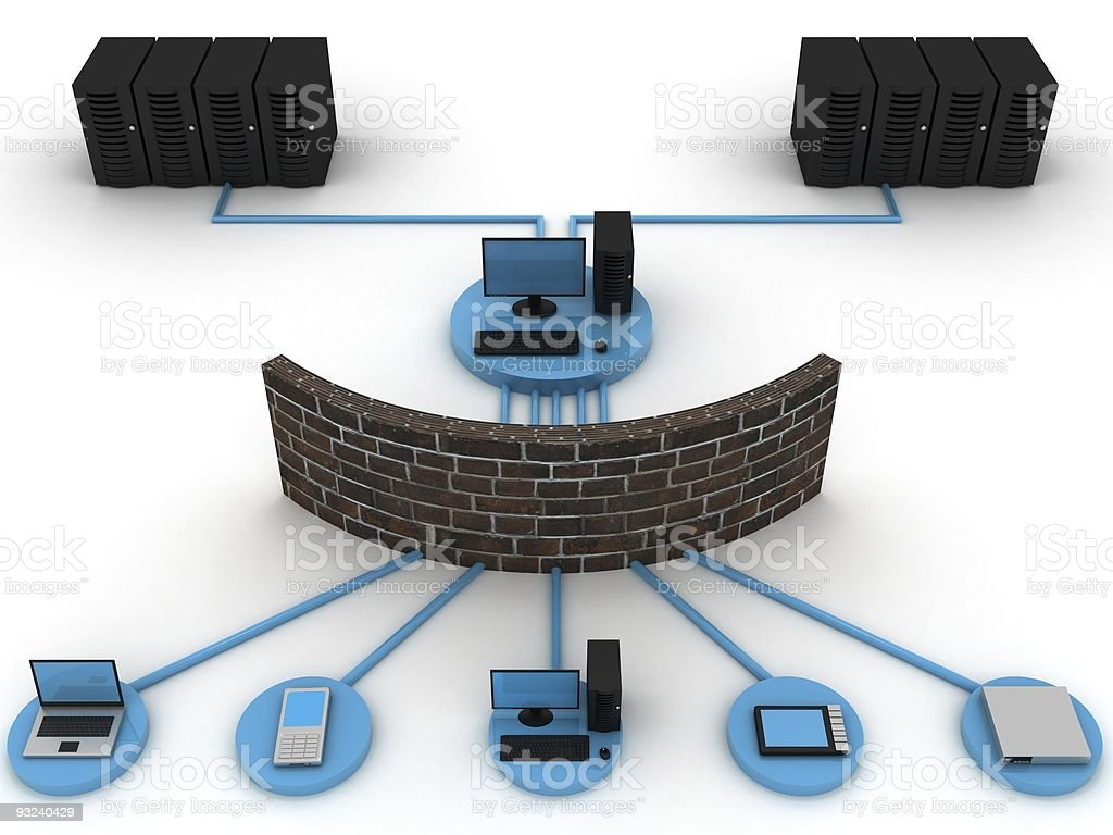 Secure Network royalty-free stock photo