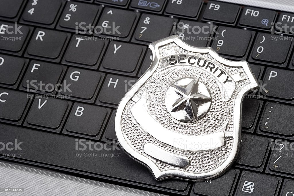 Secure networking royalty-free stock photo