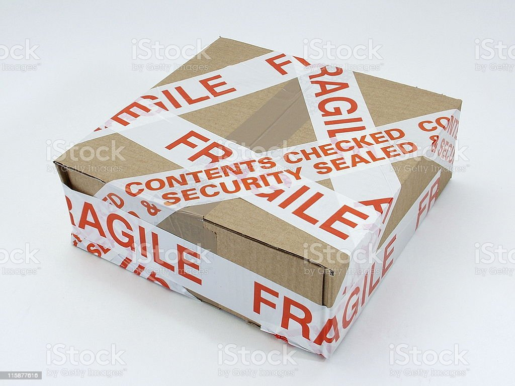 Secure package royalty-free stock photo