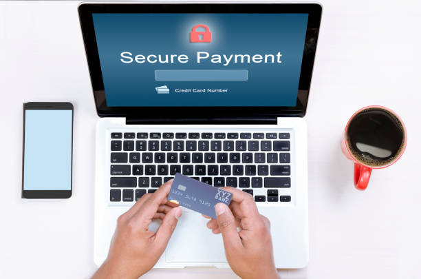 Secure payment doubt stock photo