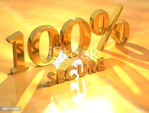 istock 100% Secure 682703920
