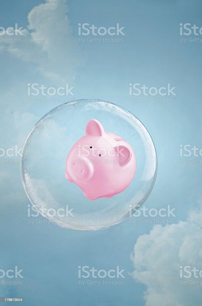 Secure savings stock photo