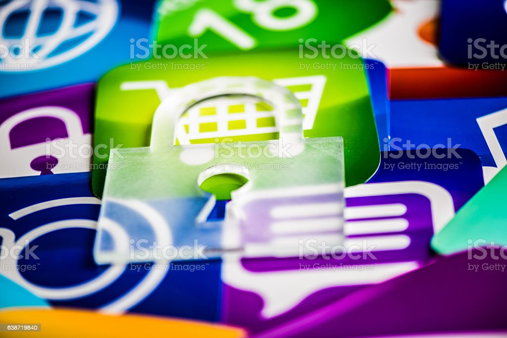 secure software applications stock photo