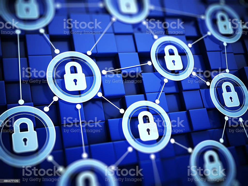 Secure system concept stock photo