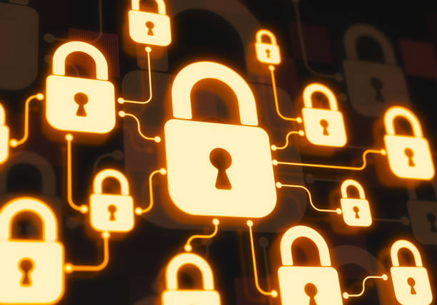 Secure system Secure system concept. Padlocks networking like secure system security stock pictures, royalty-free photos & images