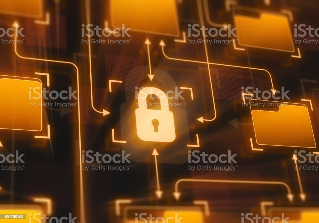 Secure system royalty-free stock photo