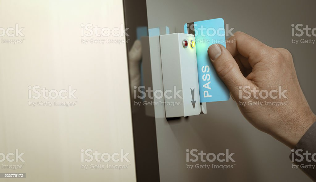 Secured Access, Member Pass stock photo