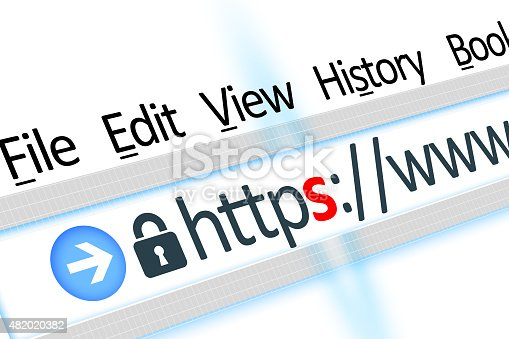 istock Secured connection link web browser detail 482020382