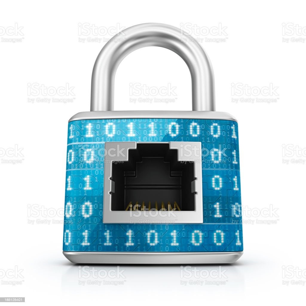 secured internet connection royalty-free stock photo