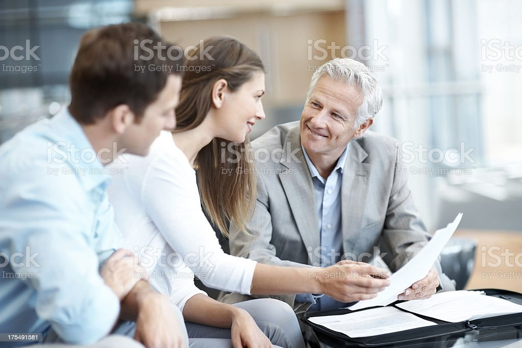Securing a future for themselves stock photo