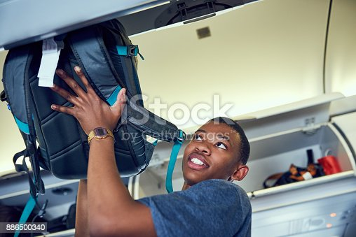 istock Securing my luggage 886500340
