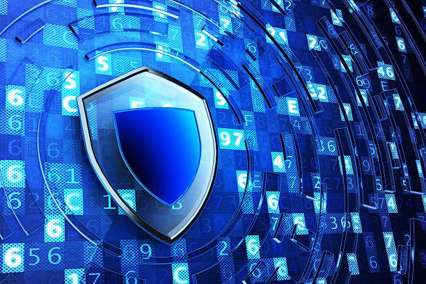 Sécurisation, pare-feu, de la protection des données et informatique concept de sécurité des informations - Photo
