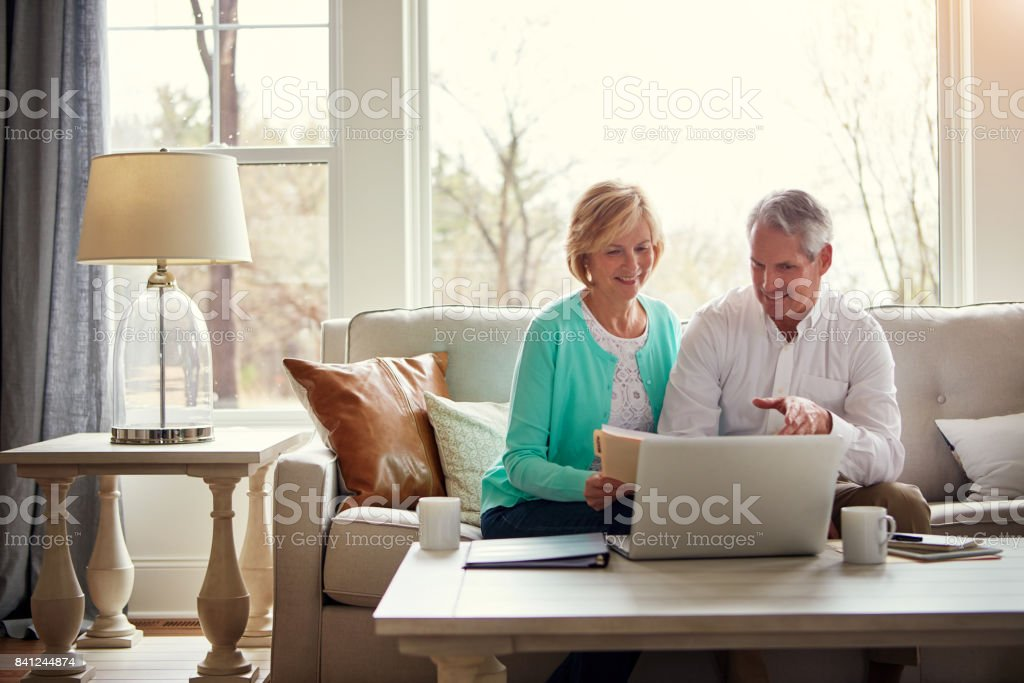 Securing themselves for a comfortable retirement stock photo
