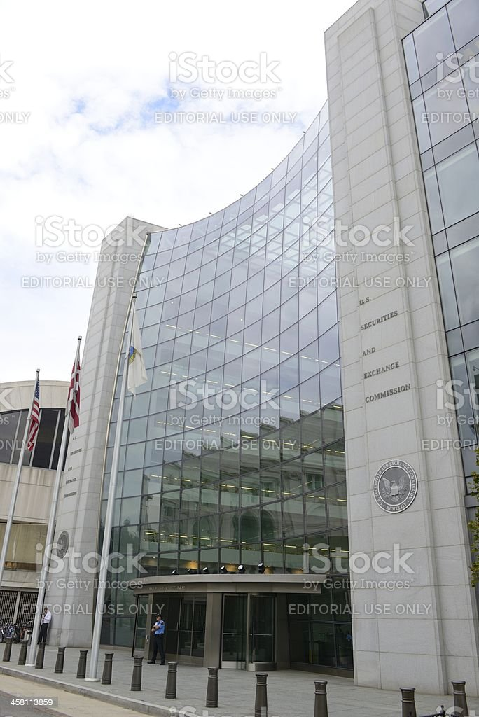 U.S. Securities and Exchange Commission Building stock photo