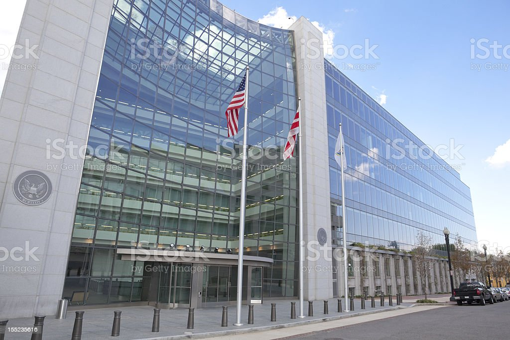 Securities and Exchange Commission, SEC, Building in Washington DC stock photo