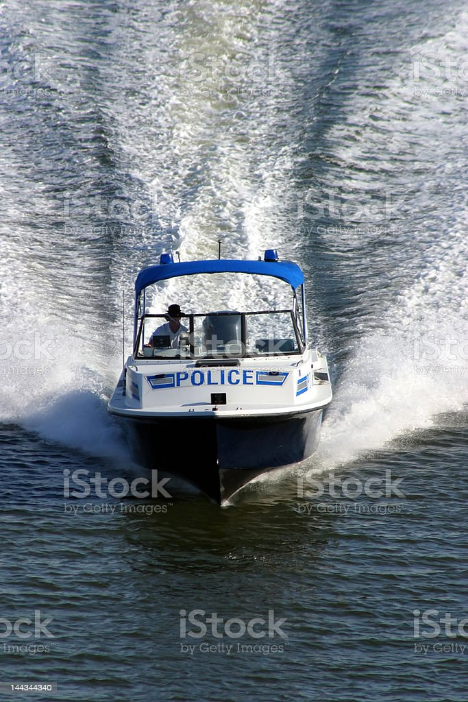 Security agent at sea stock photo