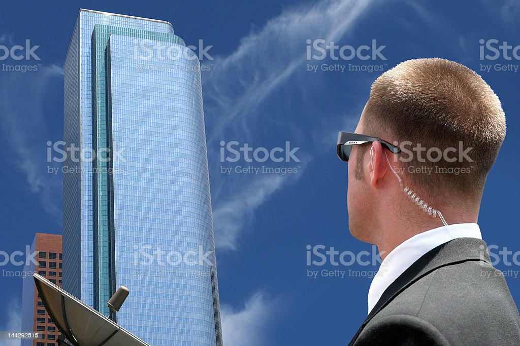 Security agent surveillance royalty-free stock photo
