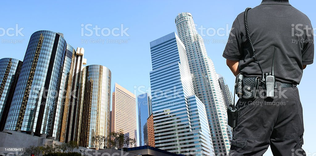 Security agent surveillance stock photo