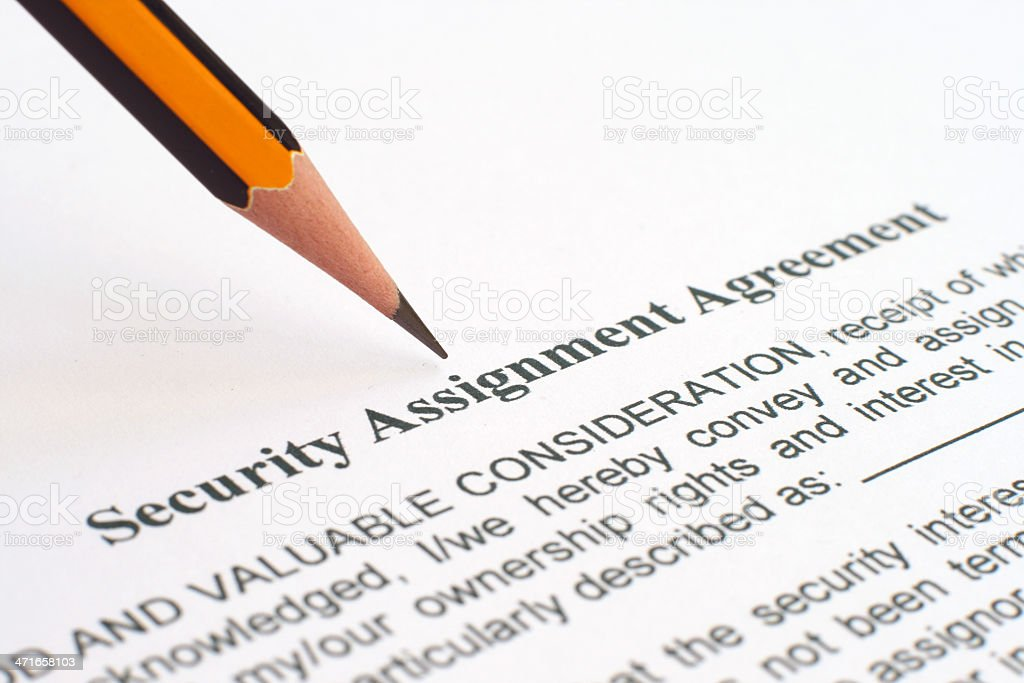 Security agreement royalty-free stock photo