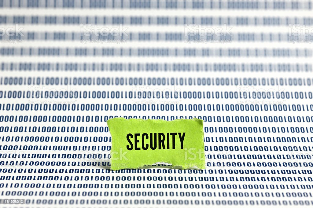 Security Among Binary Code royalty-free stock photo