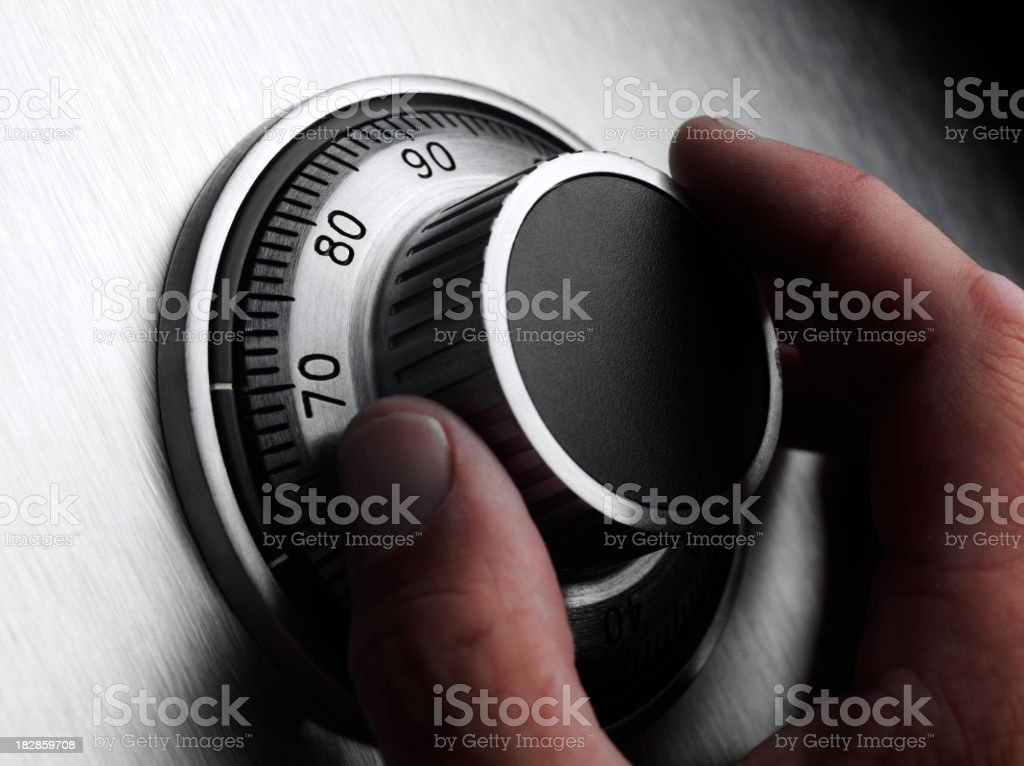 Security and Safe Dial royalty-free stock photo
