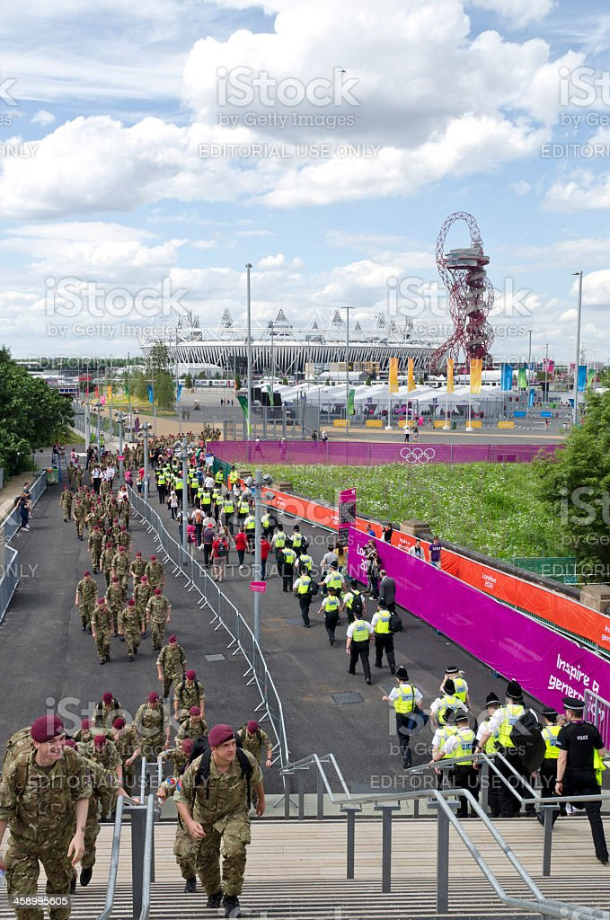 Security at the London 2012 Olympics royalty-free stock photo