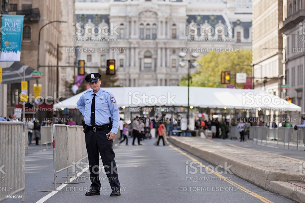 Security at World Meeting of Families, Papal Visit, Philadelphia, PA stock photo