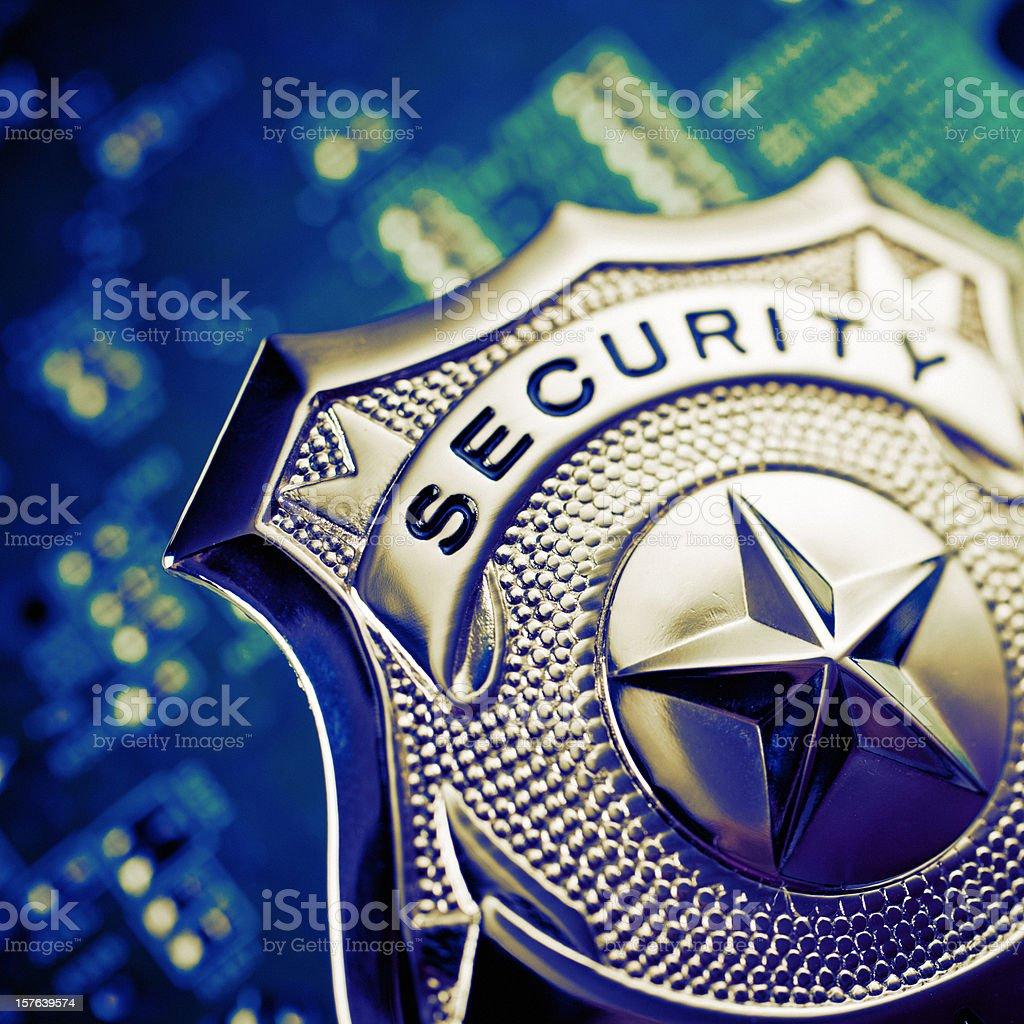 security badge stock photo