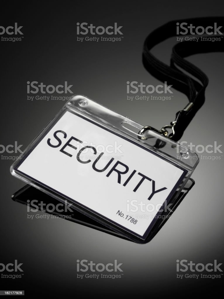 Security Badge stock photo