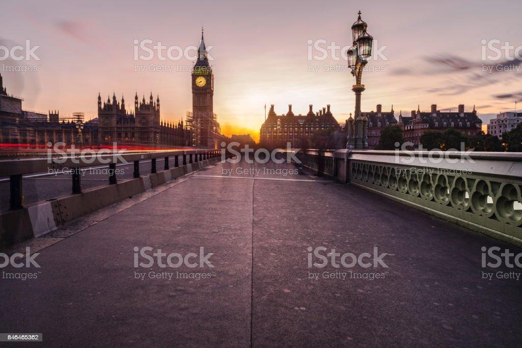 Security Barriers Westminster bridge stock photo