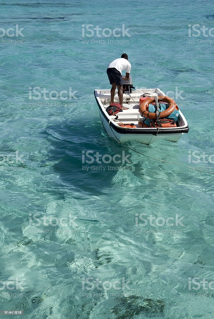 Security boat royalty-free stock photo