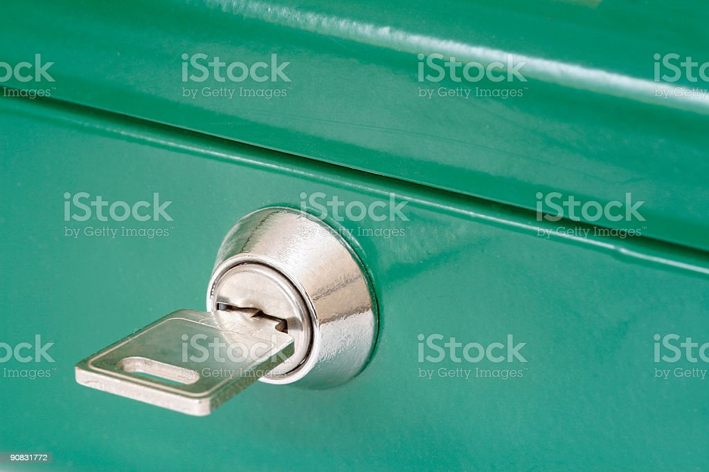 Security Box Key royalty-free stock photo