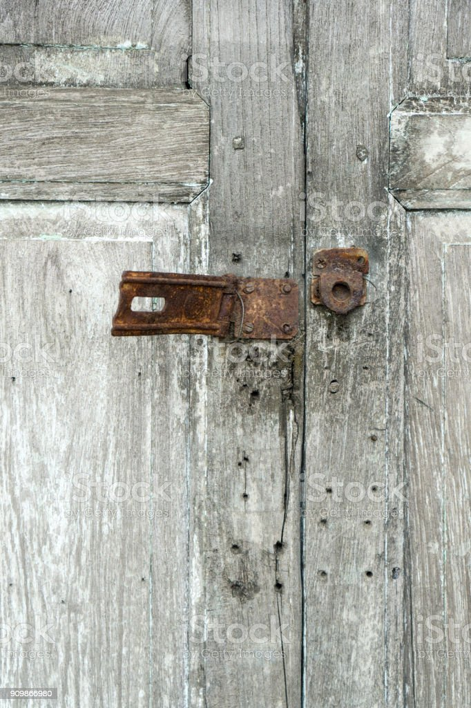 Security Breach Concept With Closeup And Copy Space On An Old Rusty