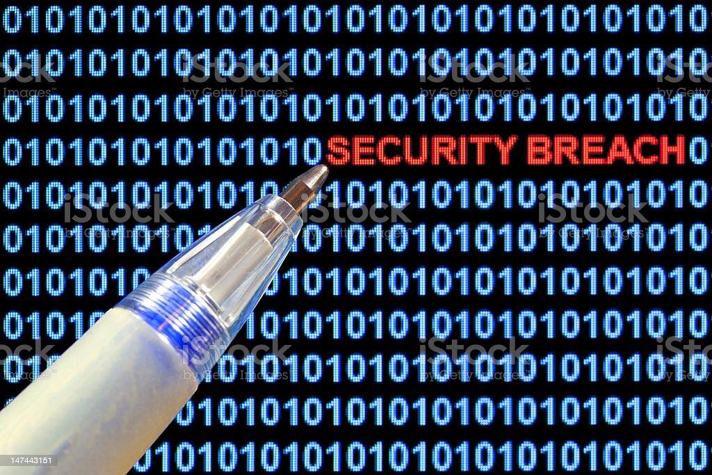 Security Breach Symbolism stock photo