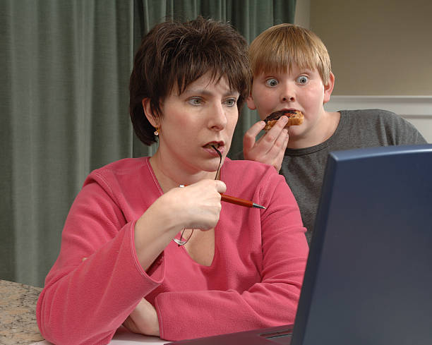 security browsing issues - mom spying stock photos and pictures