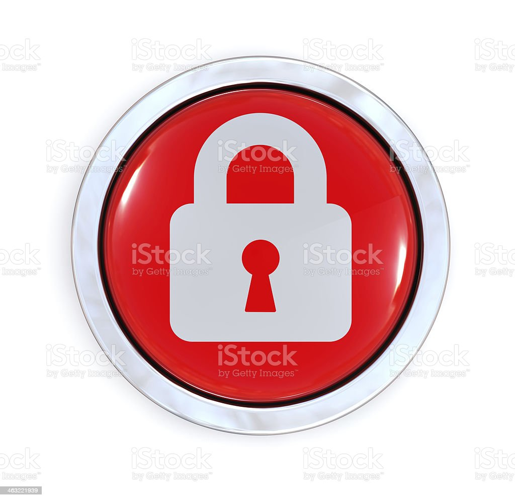 Security Button stock photo