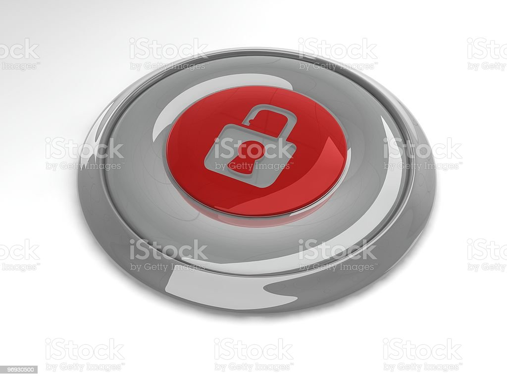 Security button royalty-free stock photo
