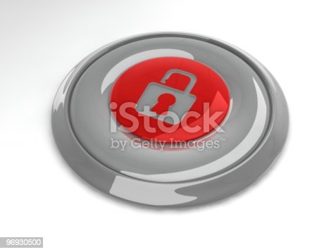 Security Button Stock Photo & More Pictures of Color Image