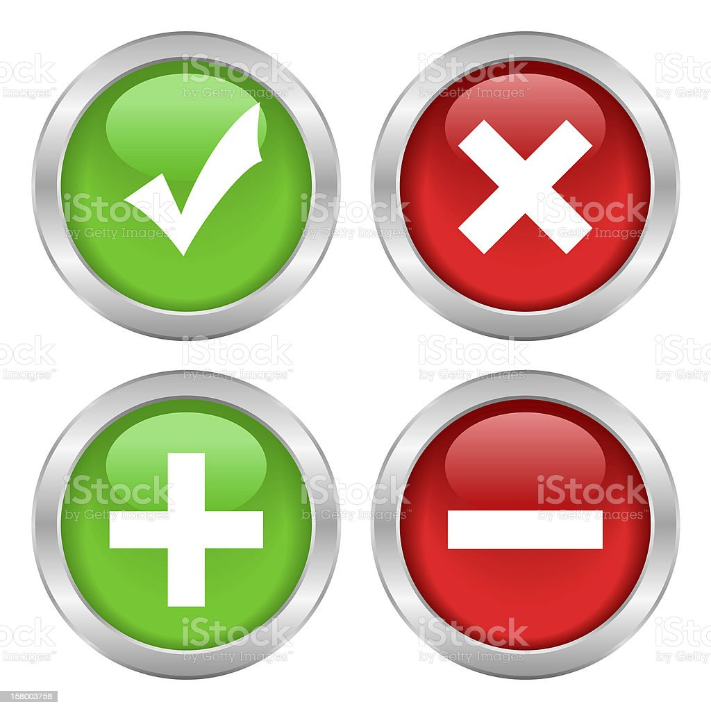 Security buttons stock photo