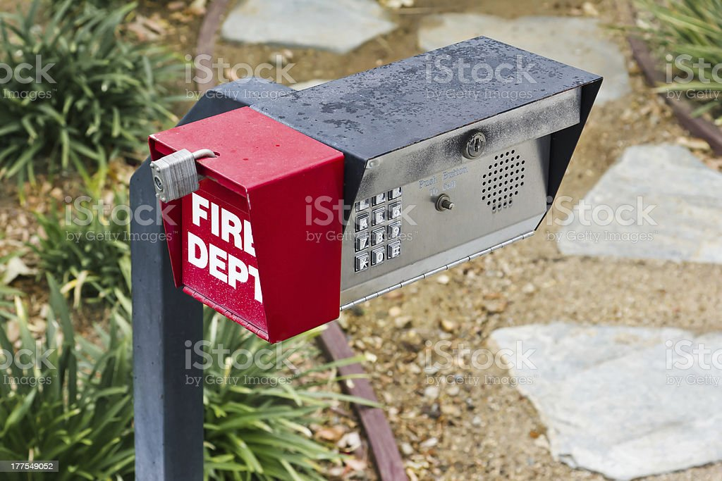 Security Call Box royalty-free stock photo