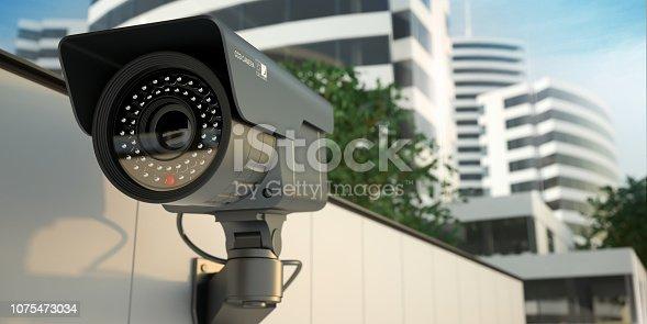 istock Security camera, 3D illustration 1075473034