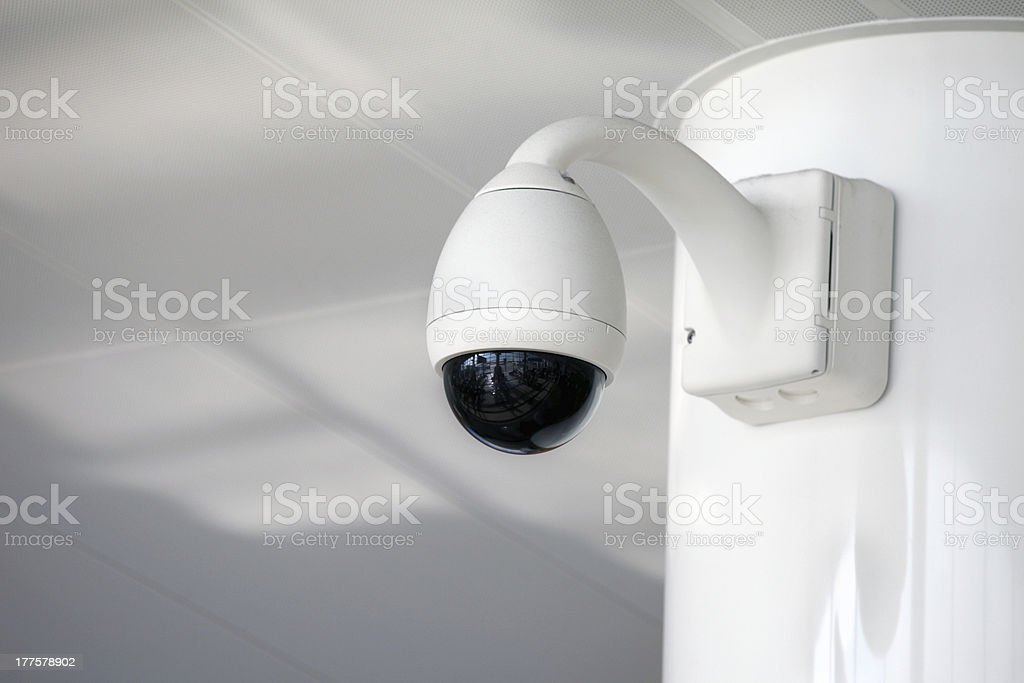 Security camera at airport royalty-free stock photo